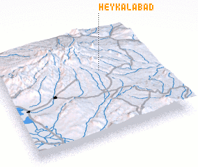 3d view of Heykalābād