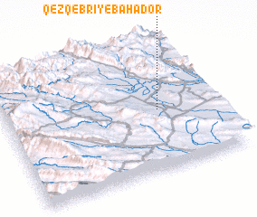 3d view of Qez Qebrī-ye Bahādor