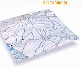 3d view of Solţān Kandī
