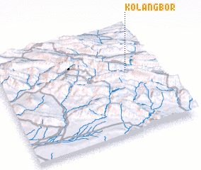 3d view of Kolang Bor