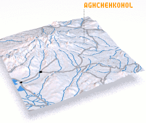 3d view of Āghcheh Kohol