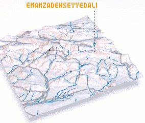 3d view of Emāmzādeh Seyyed 'Alī