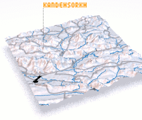 3d view of Kandeh Sorkh