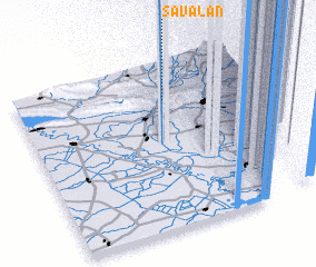 3d view of Savalan