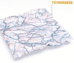 3d view of Teymūrābād
