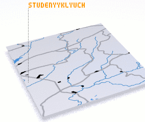 3d view of Studënyy Klyuch