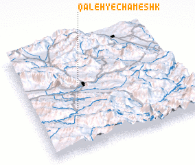 3d view of Qal'eh-ye Chameshk