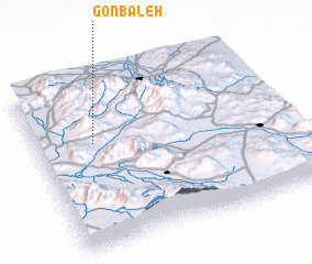 3d view of Gonbaleh