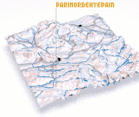 3d view of Parī Mordeh-ye Pā\