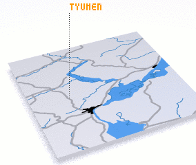 3d view of Tyumen\