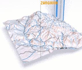 3d view of Zangī Kūh