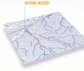 3d view of Ḩişn al 'Azzūn
