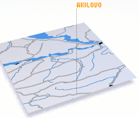3d view of Akilovo