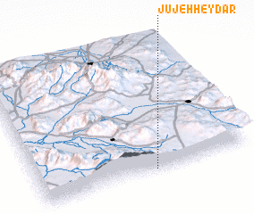 3d view of Jūjeh Ḩeydar