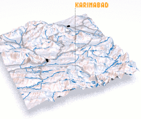 3d view of Karīmābād