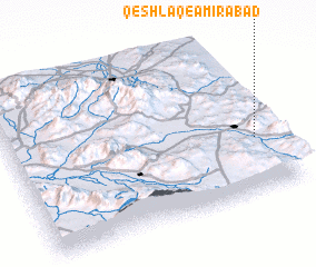 3d view of Qeshlāq-e Amīrābād