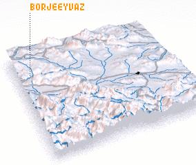 3d view of Borj-e 'Eyvaẕ