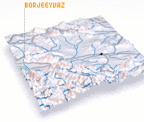 3d view of Borj-e Eyvaz