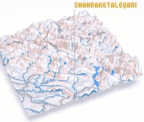3d view of Shahrak-e Ţāleqānī