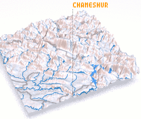3d view of Cham-e Shūr