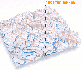 3d view of Dūst-e Moḩammad