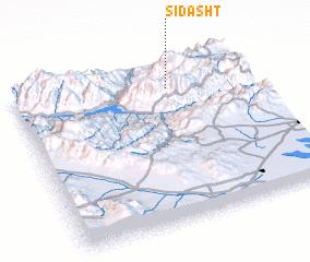 3d view of Sī Dasht