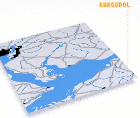 3d view of Kargopol\