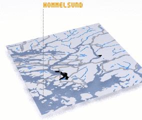 3d view of Hommelsund
