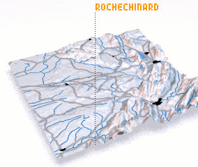 3d view of Rochechinard