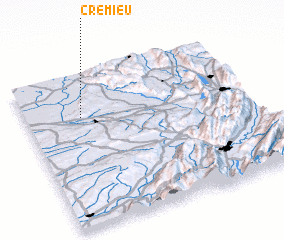 3d view of Crémieu