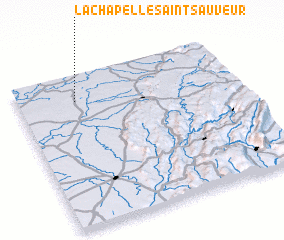 3d view of La Chapelle-Saint-Sauveur