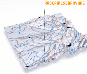 3d view of Auberives-en-Royans