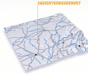 3d view of Savigny-en-Revermont