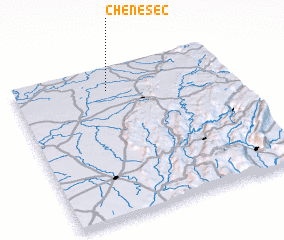 3d view of Chêne-Sec