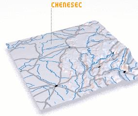3d view of Chêne-Sec