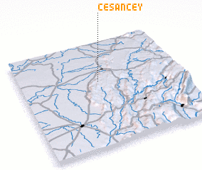 3d view of Césancey
