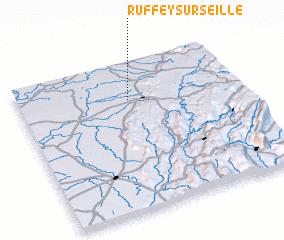3d view of Ruffey-sur-Seille