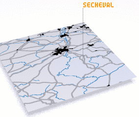 3d view of Sécheval