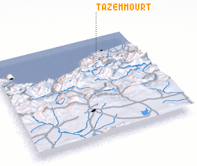 3d view of Tazêmmourt