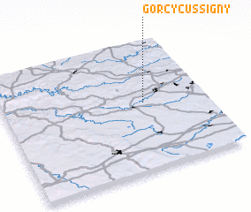 3d view of Gorcy-Cussigny