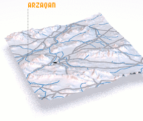 3d view of Arzaqān