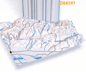 3d view of Zīdasht