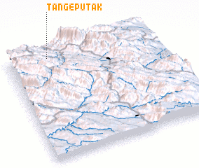 3d view of Tang-e Pūtak