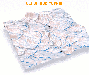 3d view of Gendī Khorī-ye Pā\
