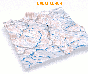 3d view of Dūdek-e Bālā