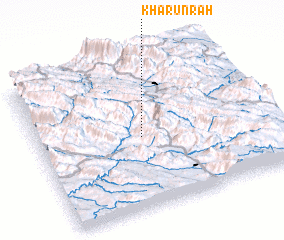 3d view of Kharūn Rāh