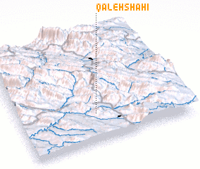 3d view of Qal'eh Shāhī