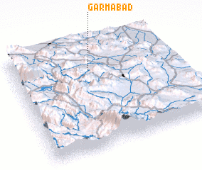 3d view of Garmābād