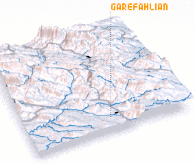 3d view of Gar-e Fahlīān