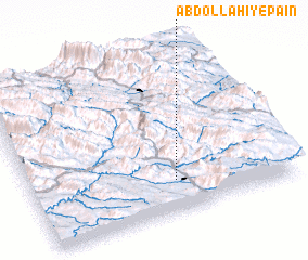 3d view of 'Abdollāhī-ye Pā\